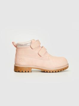 PINK - Girl's Hook and Loop Boots