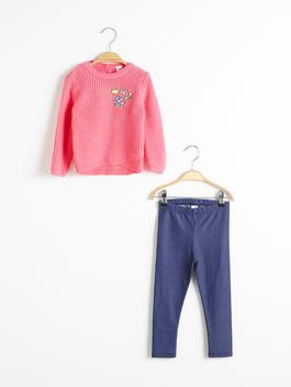 PINK - Baby Girl's Tricot Jumper and Leggings