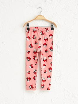 PINK - Baby Girl's Mickey Mouse Printed Leggings