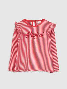 RED - Baby Girl's Striped T-Shirt