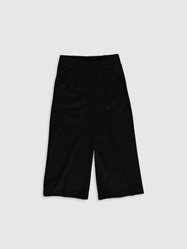 BLACK - Girl's Basic Trousers Mother and Daughter Matching