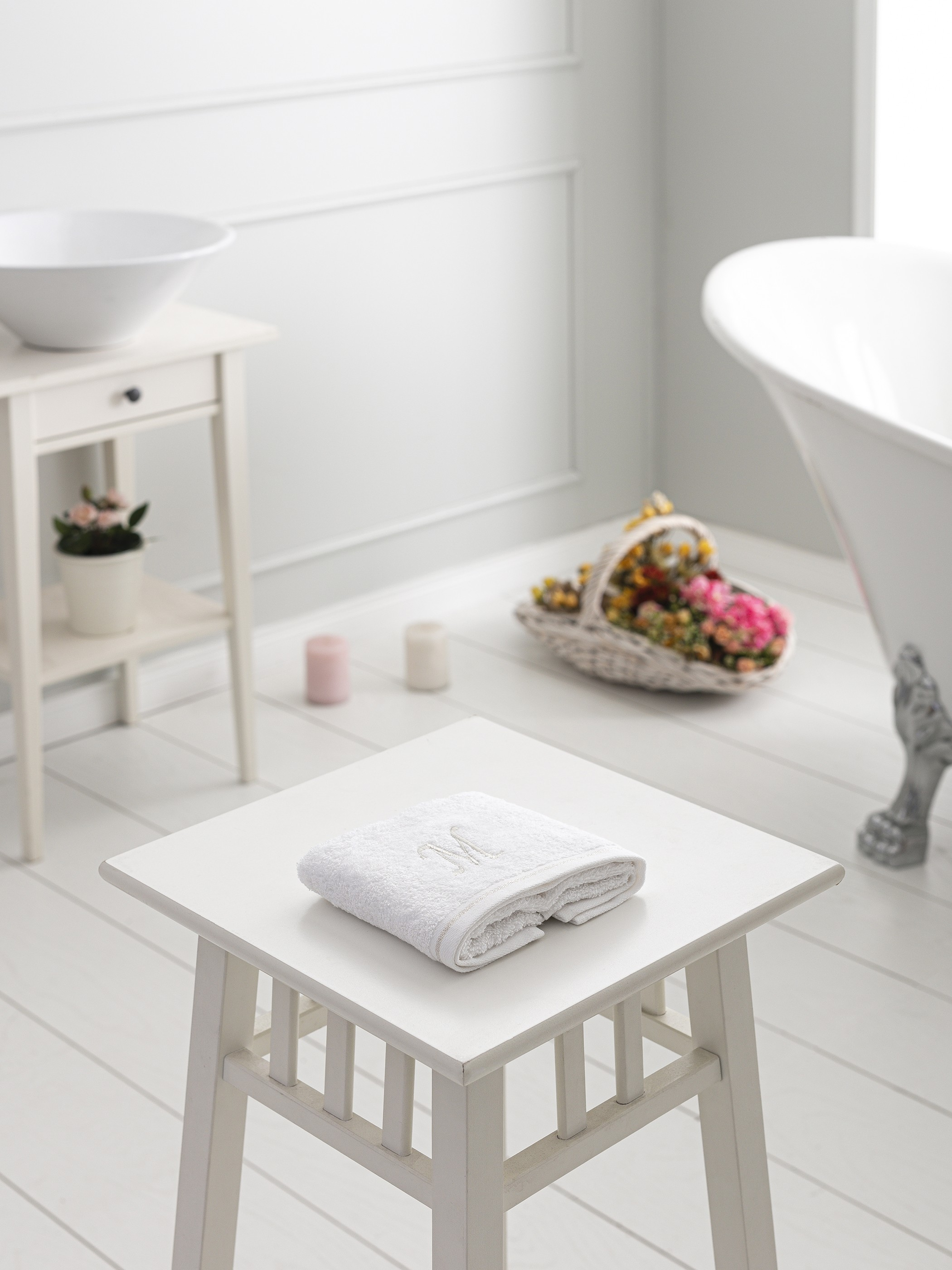 WHITE - Hand Towel - 9WH399Z8