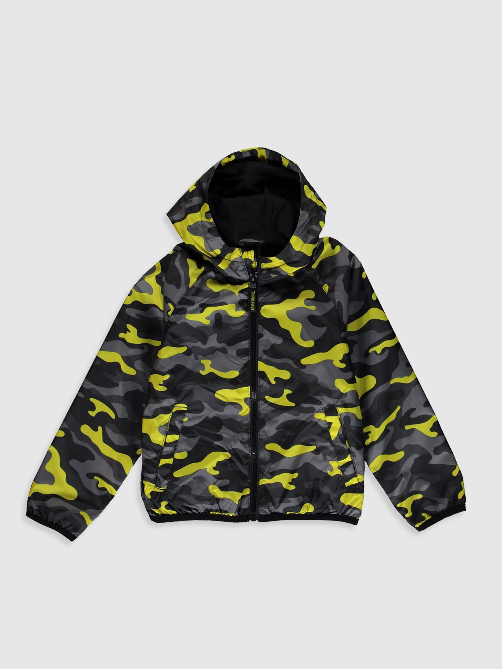 ANTHRACITE - Boy's Short Coat with Hood - 0S0041Z4