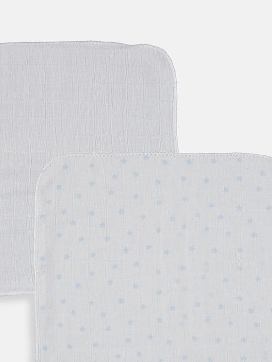 WHITE - 2-pack Baby Boy's Cotton Muslin Square - 9SU979Z1