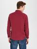RED - Extra Slim Fit Velvet Long Sleeve Shirt - 9WK391Z8