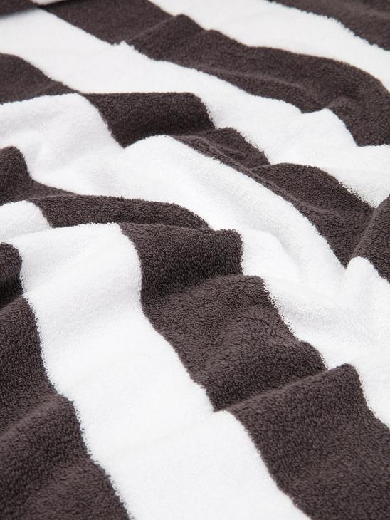 ANTHRACITE - Striped Beach Towel - 9SY535Z8