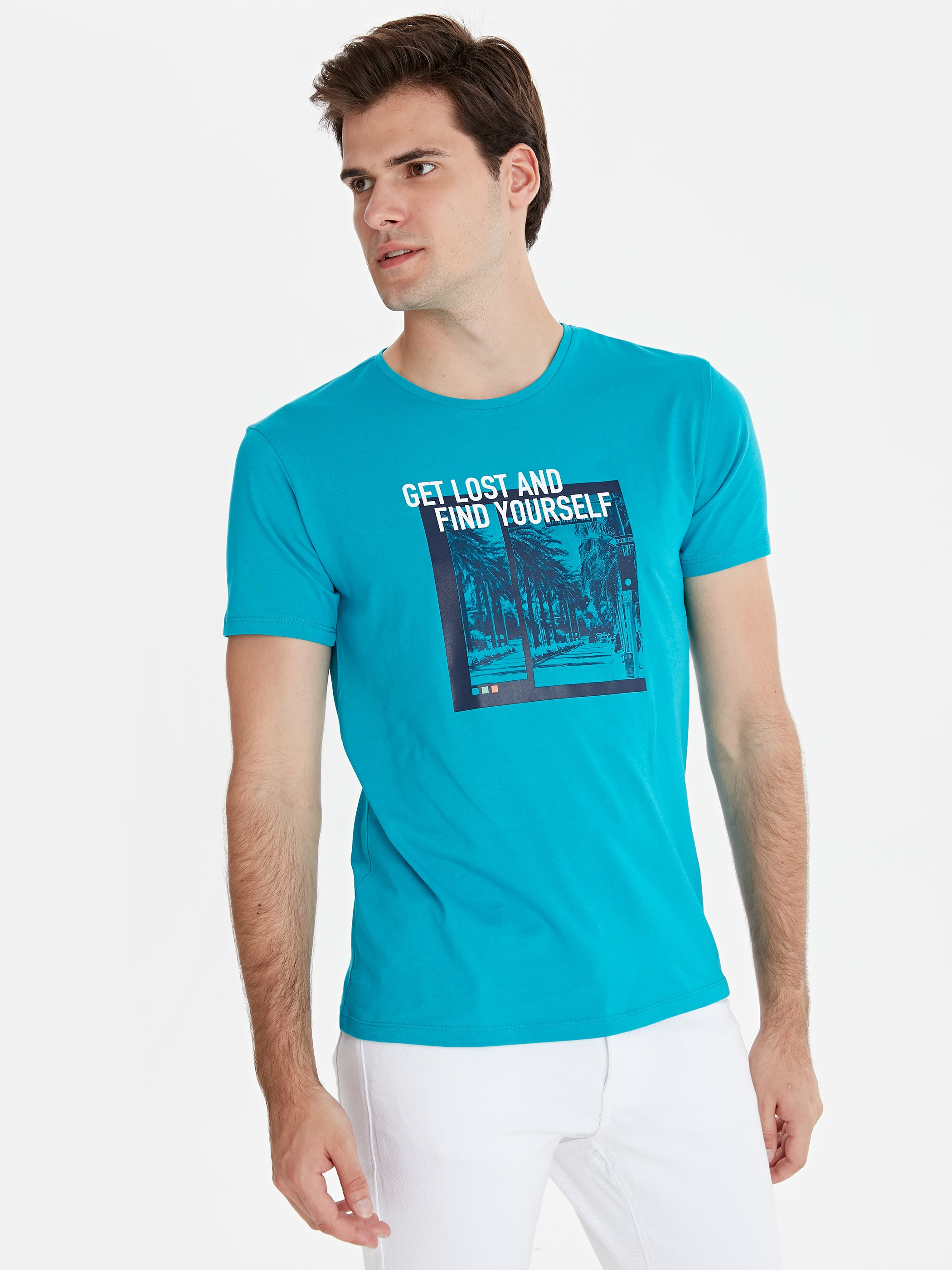 TURQUOISE - T-Shirt - 9SY896Z8
