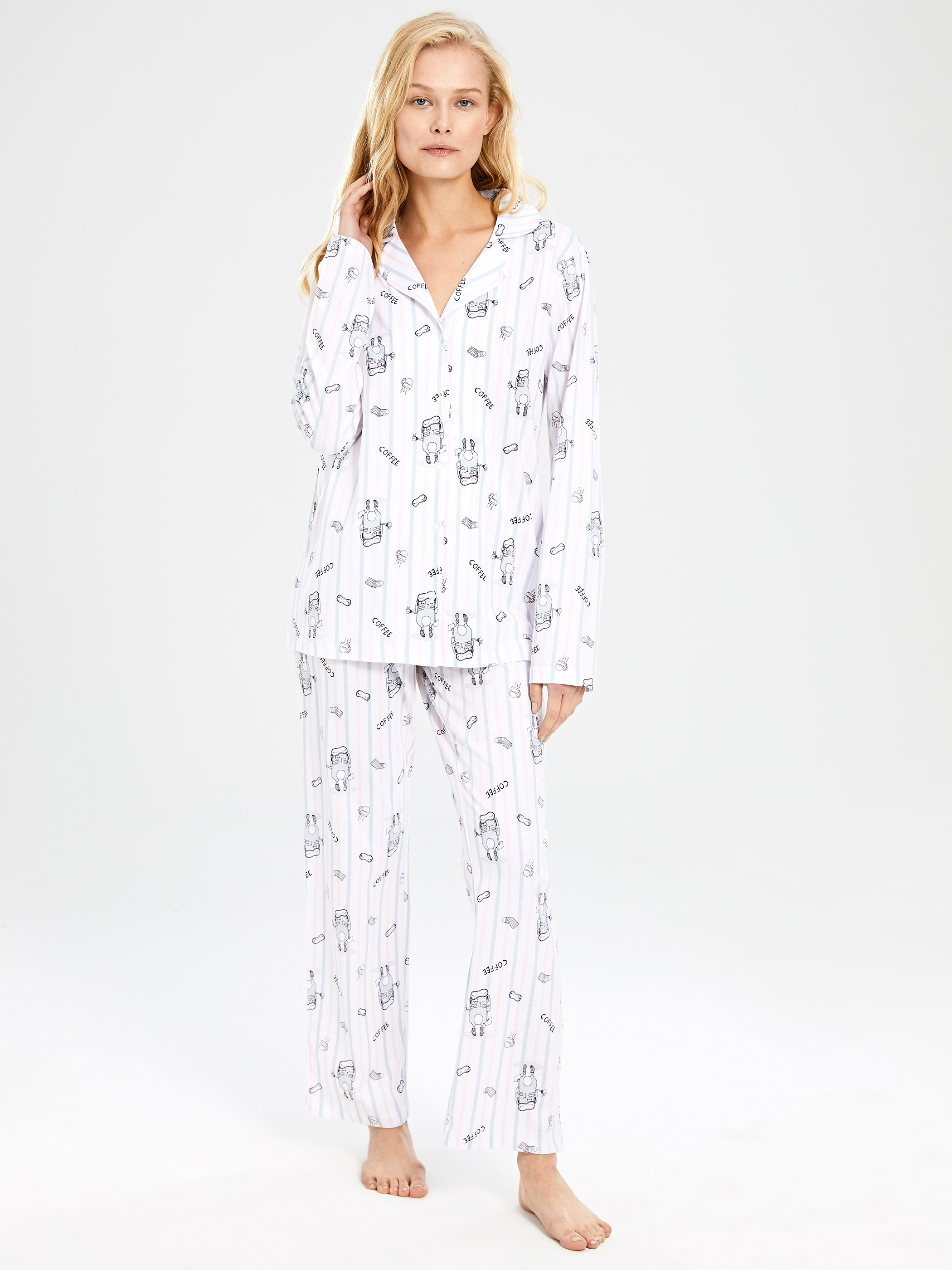WHITE - Pyjamas Set - 9WL598Z8