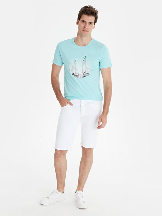 TURQUOISE - T-Shirt - 9SY906Z8