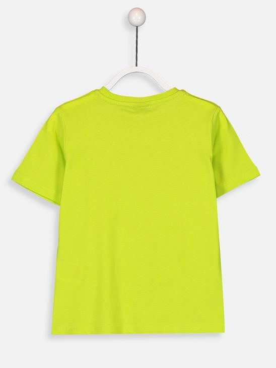 GREEN - Boy's Printed Cotton T-Shirt - 9SA422Z4