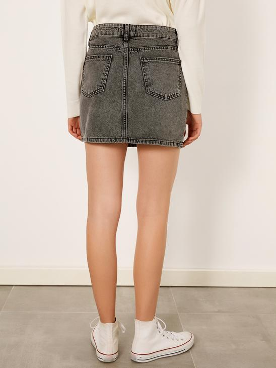 BLACK - Jean Skirt - 9WM623Z8