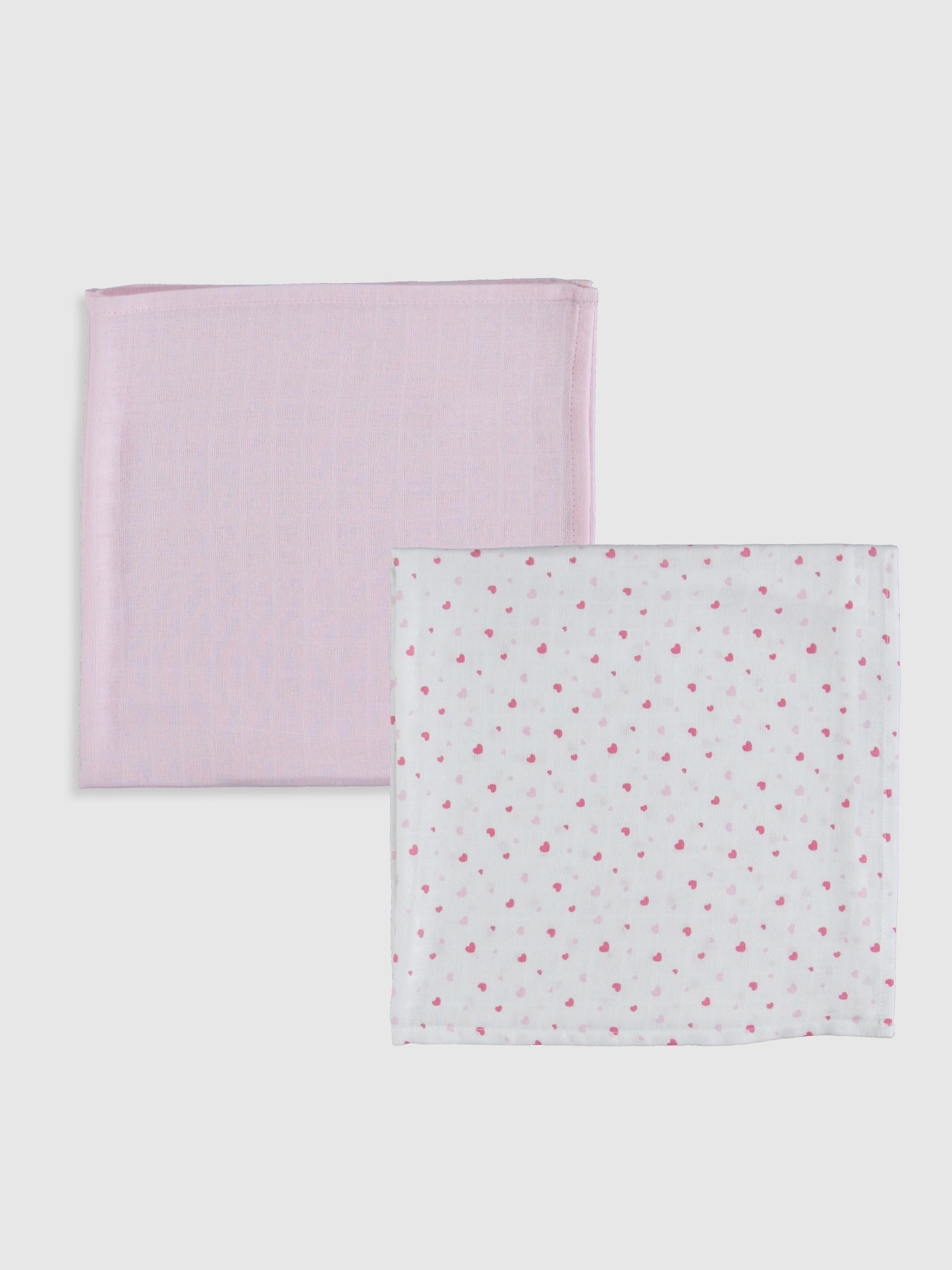 WHITE - Cotton Baby Muslin Nappy 2 Pieces - 0S1186Z1