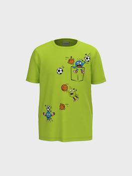 GREEN - Boy's Colour-Changing Print in the Daylight Cotton T-Shirt
