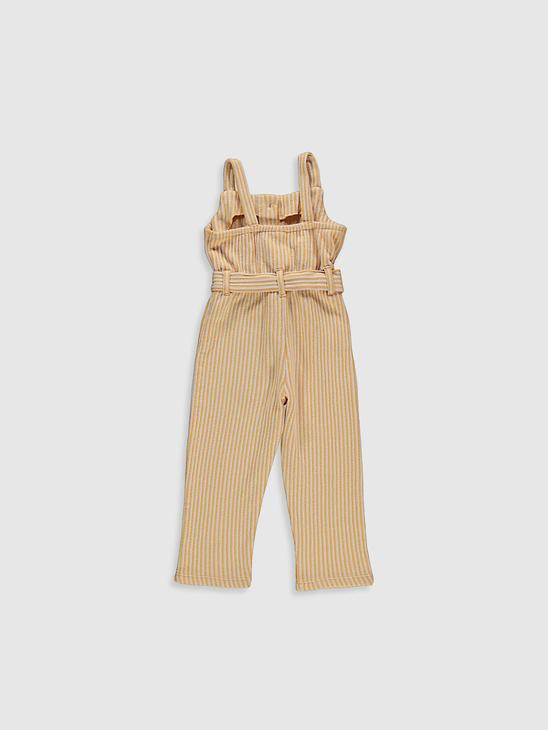 YELLOW - Baby Girl's Striped Jumpsuit - 0SR572Z1