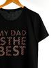 BLACK - Letter Printed T-Shirt Father and Son Matching - 0SS009Z8