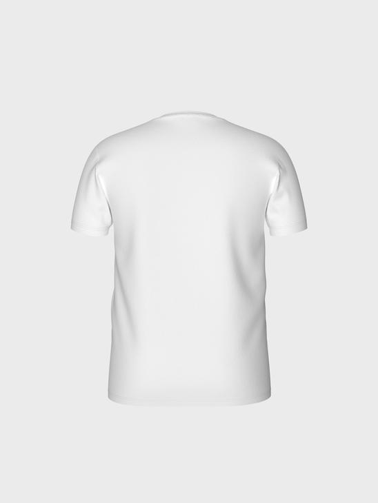 WHITE - Crew Neck Printed Combed Cotton T-Shirt - 0SS217Z8