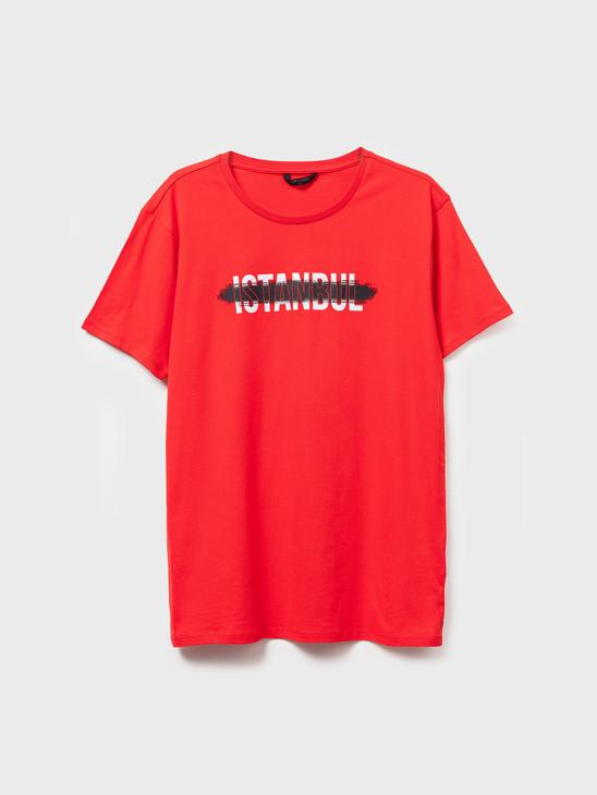 RED - Istanbul Printed T-Shirt Father and Son Matching - 0ST252Z8