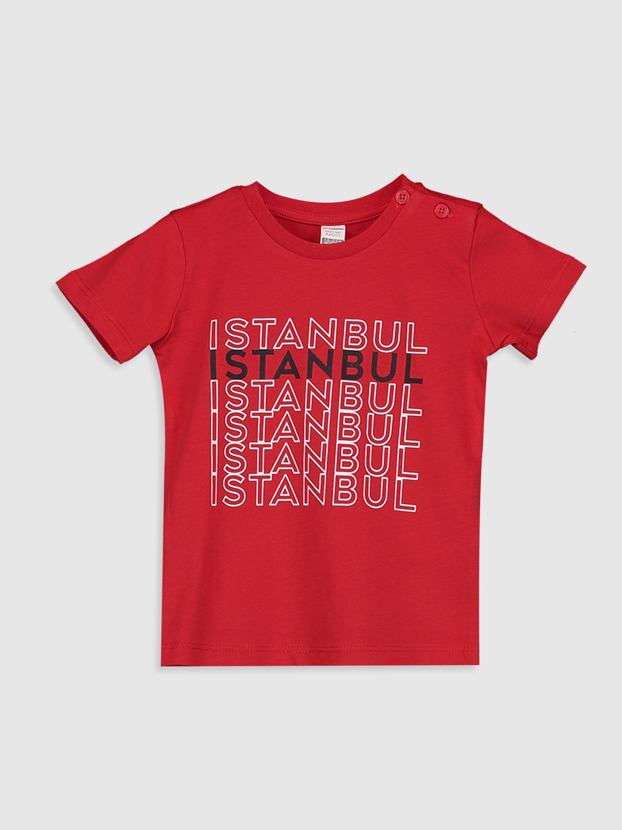 RED - Baby Boy's Printed Cotton T-Shirt Father and Son Matching - 0SU697Z1
