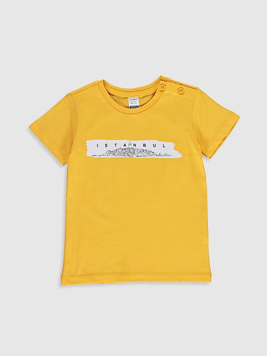 ORANGE - Baby Boy's Printed Cotton T-Shirt Father and Son Matching - 0SU984Z1