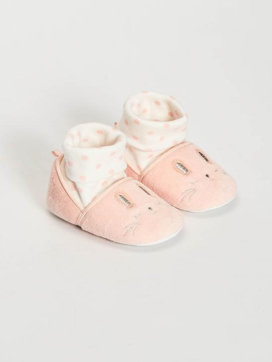 PINK - Baby Girl's House Shoes with Socks - 0WII92Z1