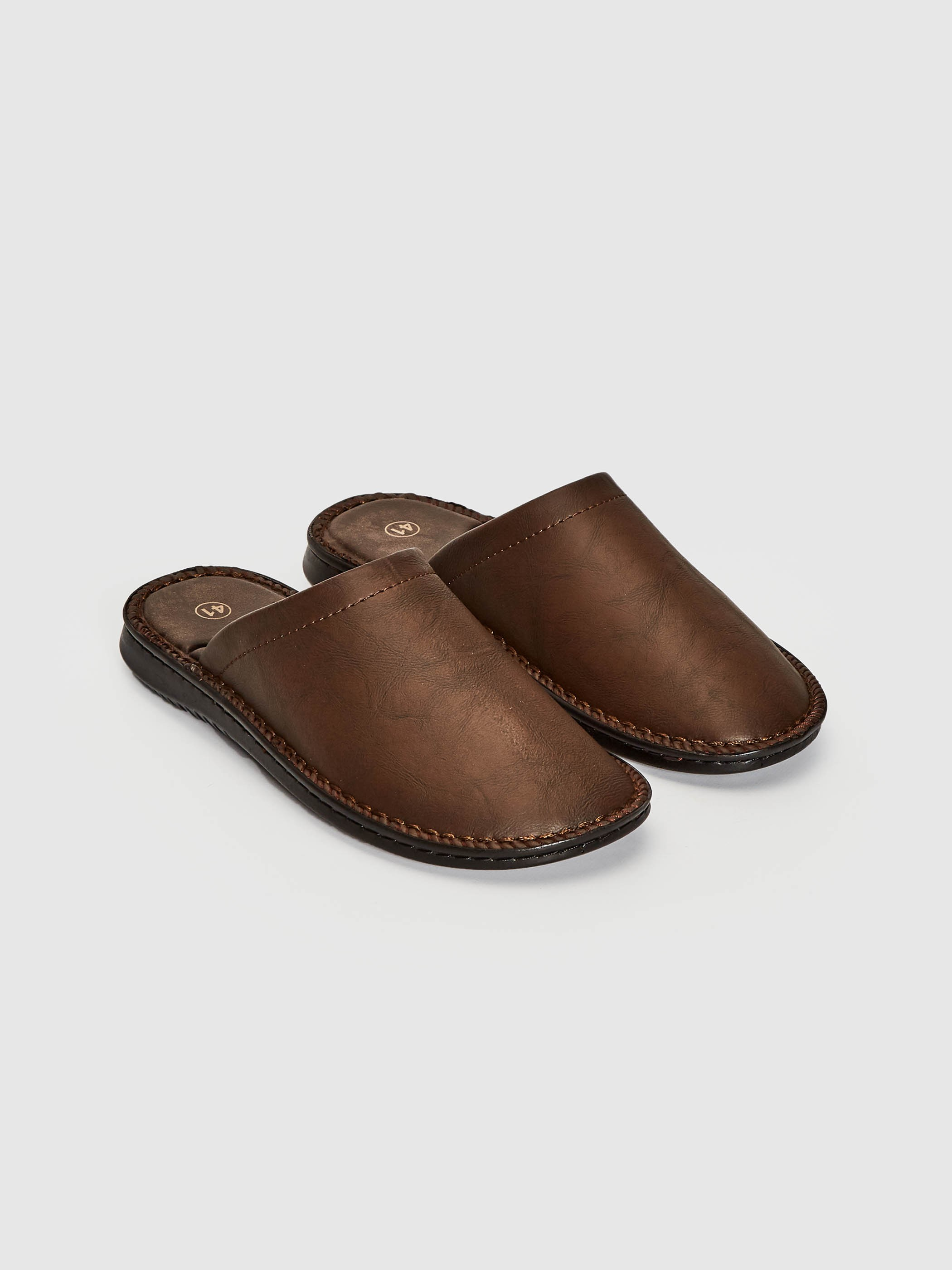 BROWN - Men's House Slippers - 0WII93Z8