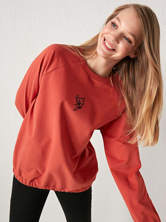 BROWN - Bambi Printed Cotton Sweatshirt Mother and Daughter Matching - 0WHK06Z8