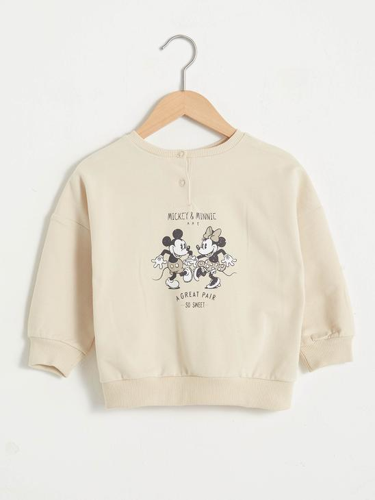 BEIGE - Baby Girl's Minnie and Mickey Mouse Printed Sweatshirt Mother and Daughter Matching - 0WHL86Z1