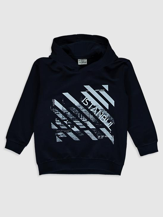 NAVY - Boy's Istanbul Themed Sweatshirt Father and Son Matching - 0SU618Z4