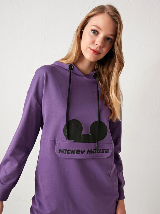 PURPLE - Mickey Mouse Printed Oversize Tunic - 9WQ372Z8