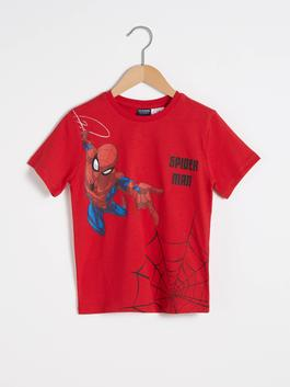 RED - Boy's Spiderman Printed Cotton T-Shirt
