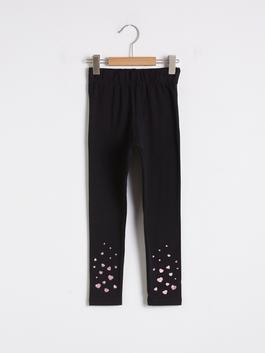 BLACK - Girl's Long Cotton Leggings