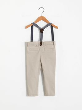 BEIGE - Baby Boy's Trousers and Suspenders - S10972Z1