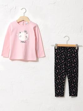 PINK - Baby Girl's Figured T-Shirt and Leggings