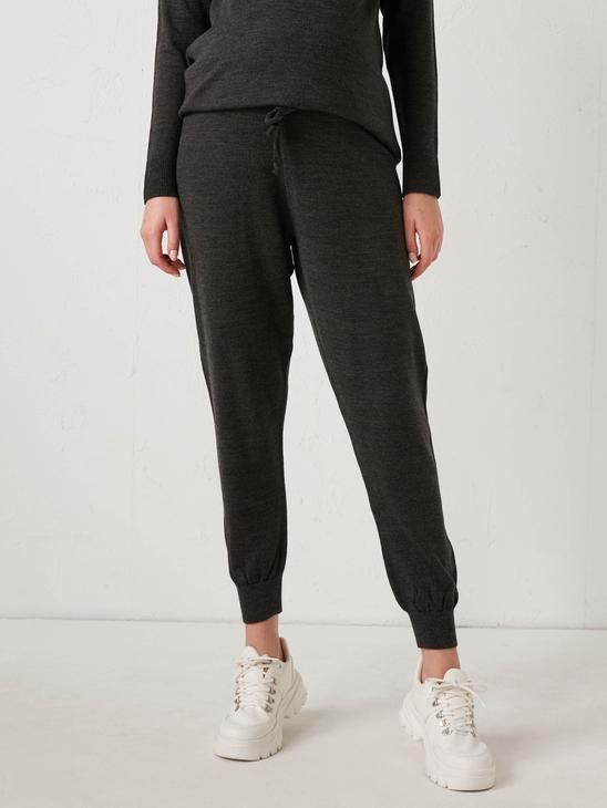 ANTHRACITE - Maternity Elastic Waist Knitwear Jogger Pants - 0WIS48Z8
