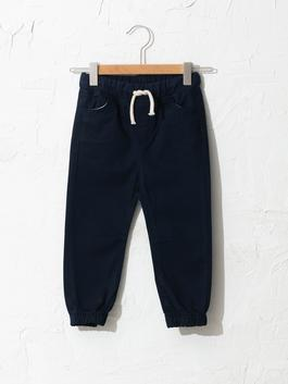 NAVY - Textured Fabric Baby Boy Jogger Trousers - S10944Z1