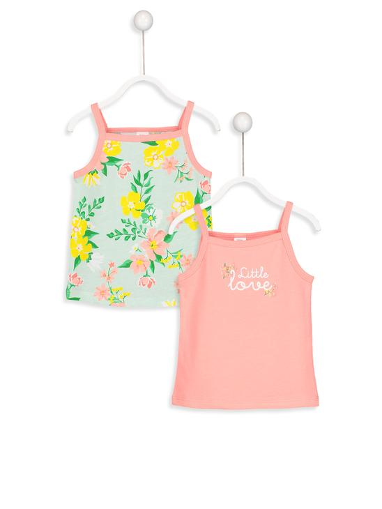 CORAL - 2-pack Baby Girl's Printed Tank Top - 8SC688Z1