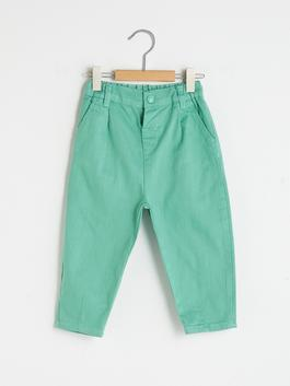 GREEN - Slouchy Fit Basic Baby Boy Trousers - S1BD87Z1
