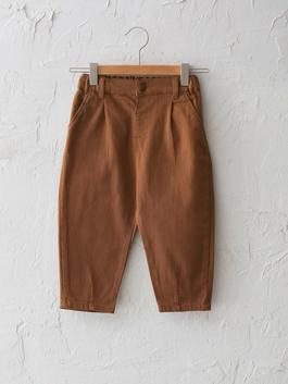 BROWN - Slouchy Fit Basic Baby Boy Trousers - S1BD87Z1