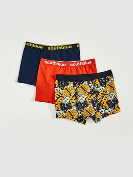 YELLOW - 3-pack Boy's Cotton Boxers