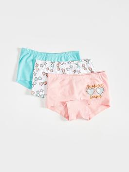 PINK - 3-pack Girl's Cotton Boxers