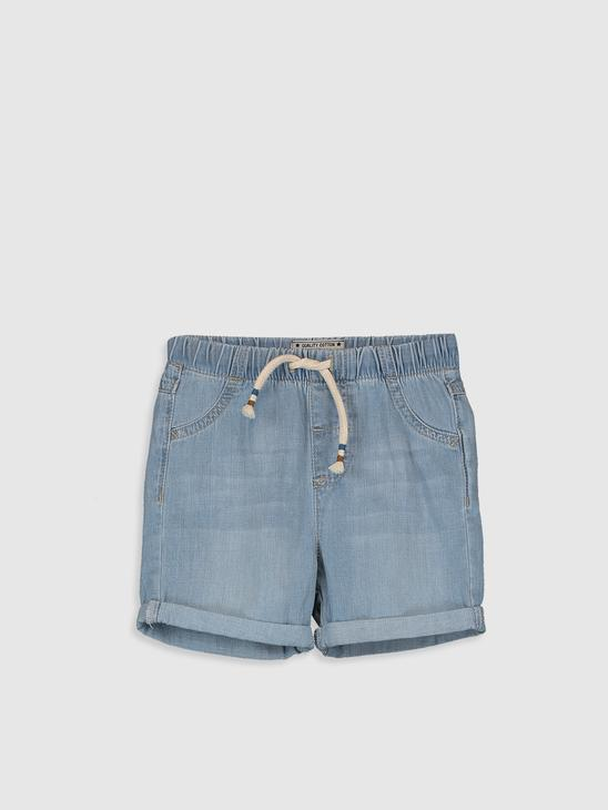 INDIGO - Regular Fit Basic Baby Boy Jean Shorts - 0S0075Z1