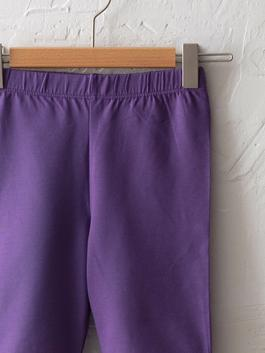 PURPLE - Basic Cotton Short Tights For Girls - S1CU92Z4