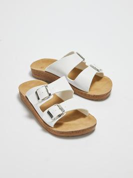 WHITE - Women's Double-banded Thick Sole Slippers - S1CI86Z8