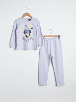 LILAC - Girl's Minnie Mouse Printed Pyjamas Set