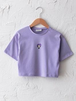 LILAC - Crew Neck Printed Short Sleeve Girls T-Shirt