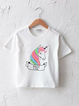 ECRU - Crew Neck Printed Short Sleeve Girls T-Shirt