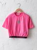 PINK - Crew Neck Printed Short Sleeve Girls T-Shirt - S1DS98Z4