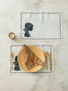 MIX - 2-pack Printed Place Mat - S1DT66Z8