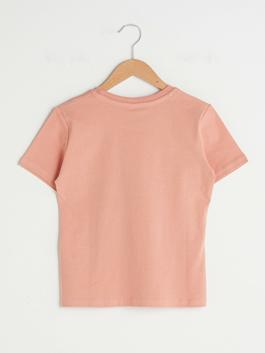 CORAL - Crew Neck Printed Short Sleeve Cotton Boy T-Shirt - S1H300Z4