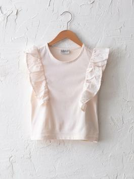 PINK - Crew Neck Basic Ruffle Detail Girl Athlete